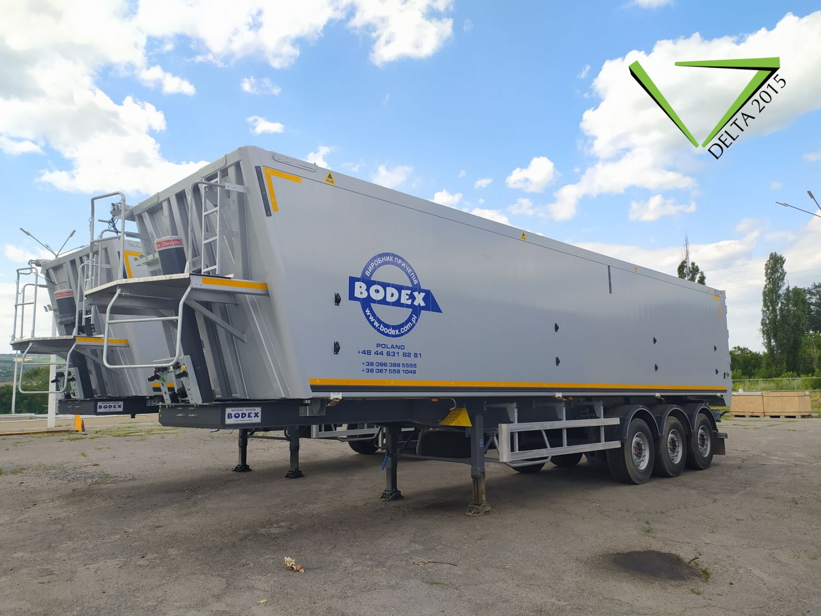 Полуприцеп-зерновоз BODEX KIS 3WS-А - 55m3 (2021г)